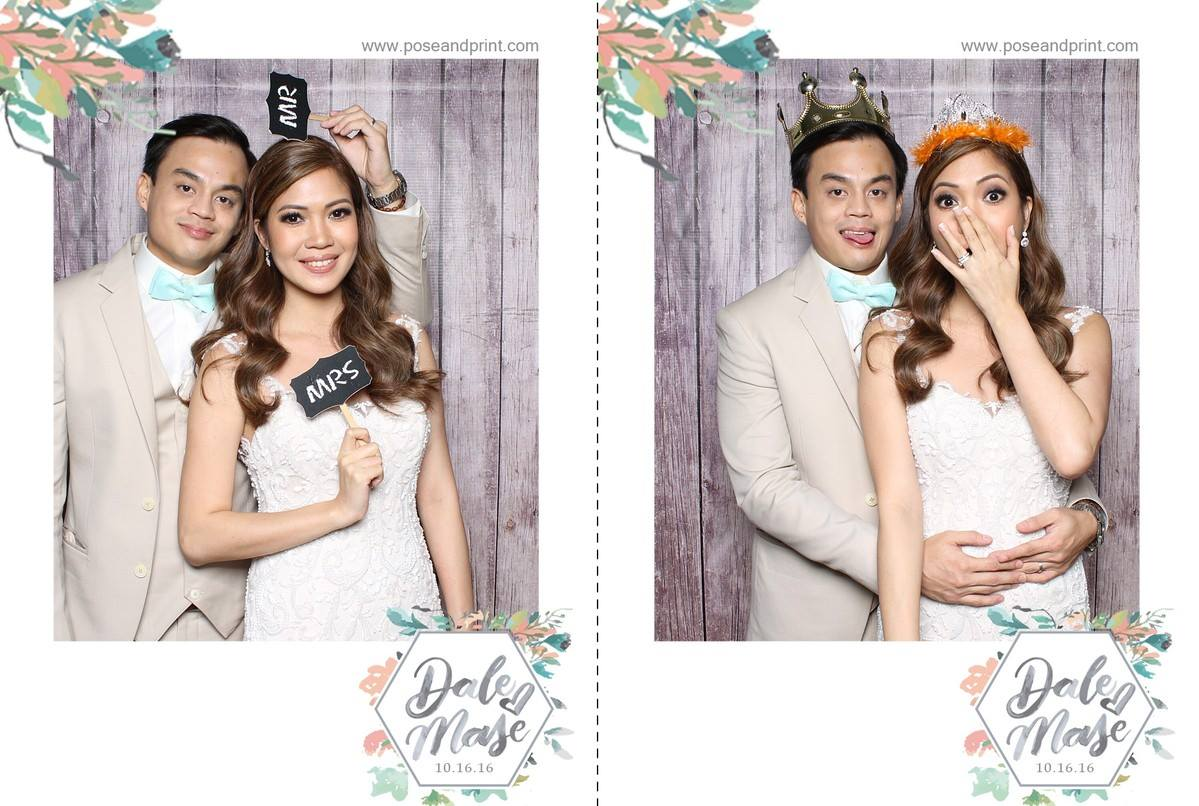 dale and mase 39 s wedding pose and print photobooth philippines. Black Bedroom Furniture Sets. Home Design Ideas